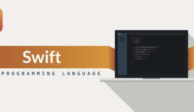 Become An iOS Developer. Laptop and letters - Swift