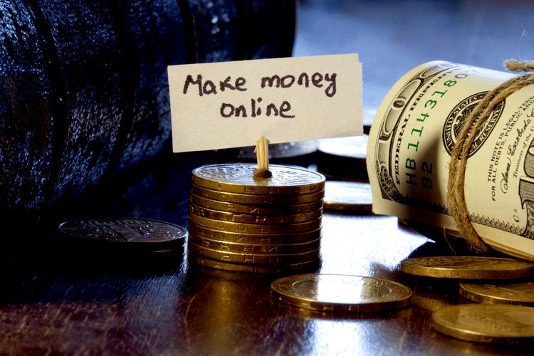 Make money online concept GRINFER