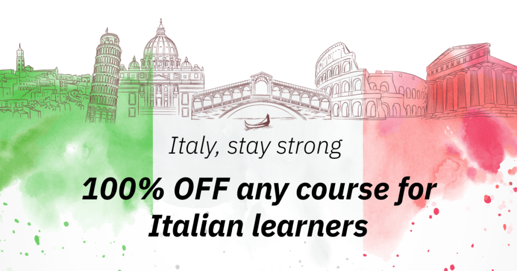 OFF any course for Italian Learners