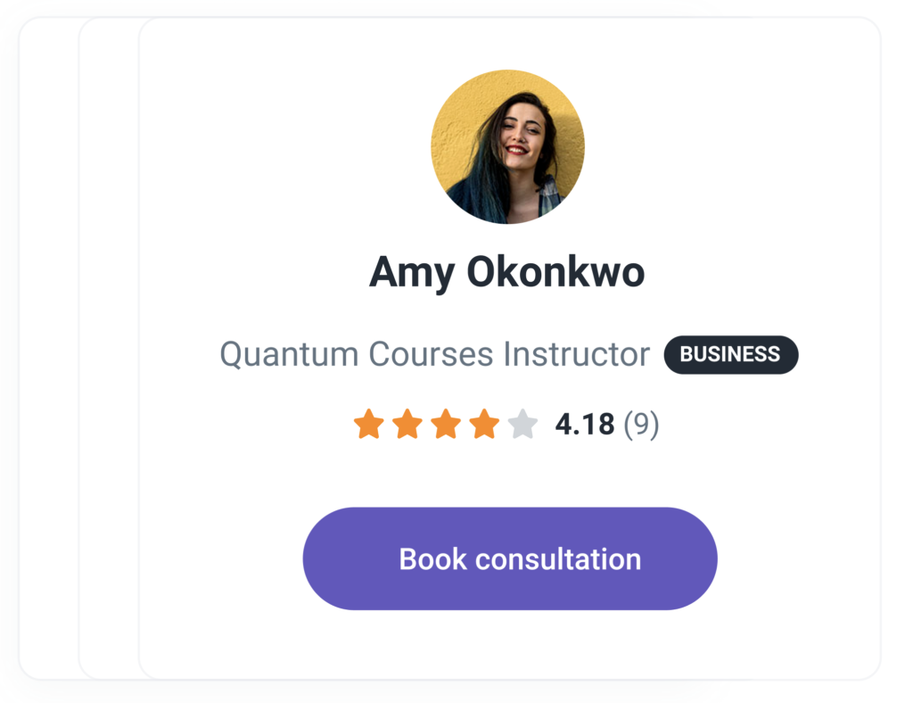 Learners find you and book a consultation with you