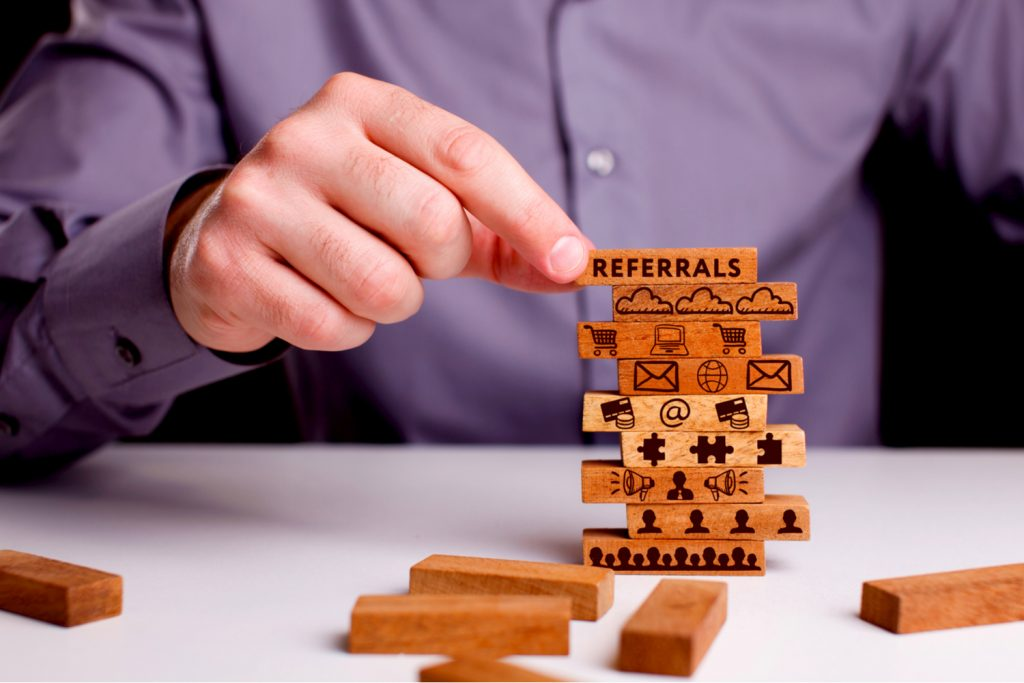 Grow an email list with offering referral programs