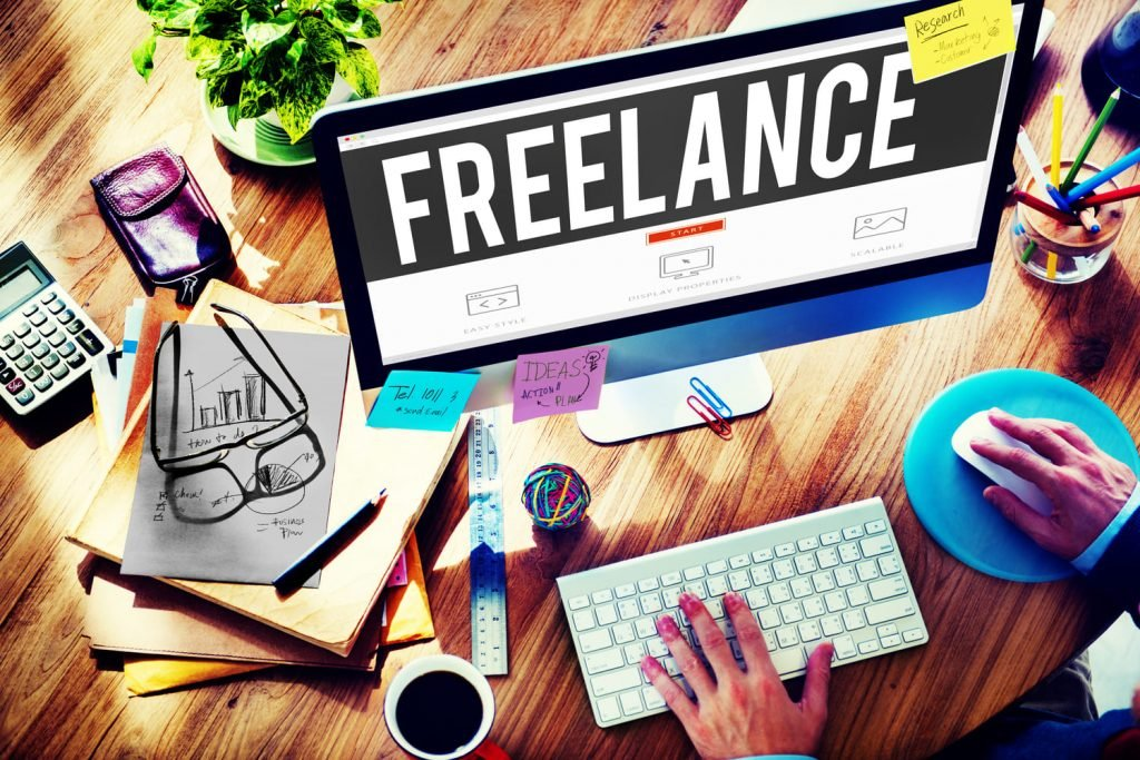 starting an online business with no money by doing freelance jobs