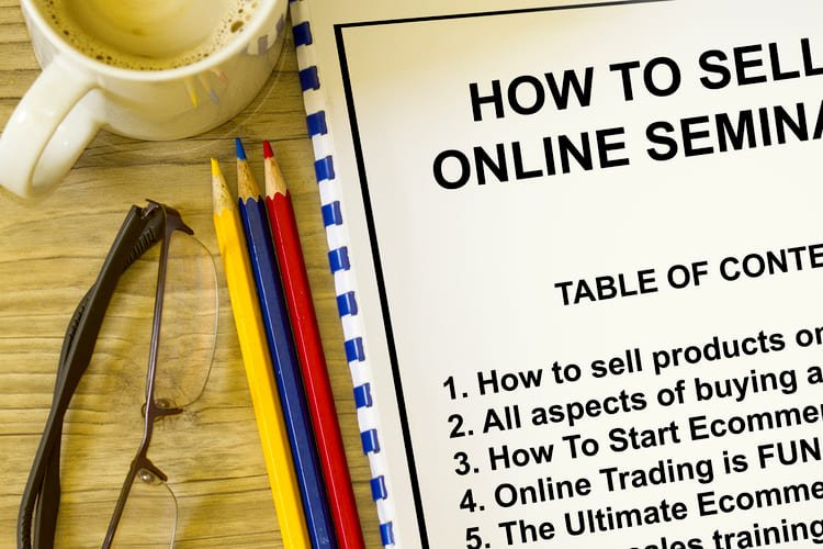 Online selling and buying workshop seminar - with contents of seminar Grinfer