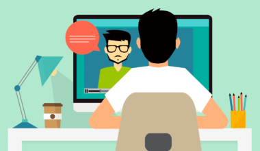 Online education - distance learning Flat modern illustration concepts