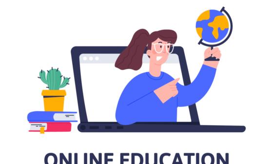Online teacher speak on laptop screen