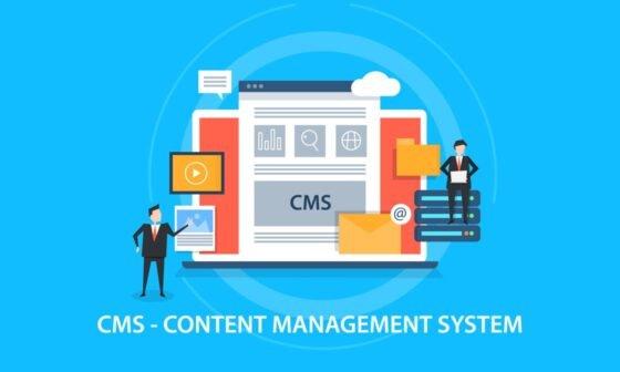 Content management system concept - CMS