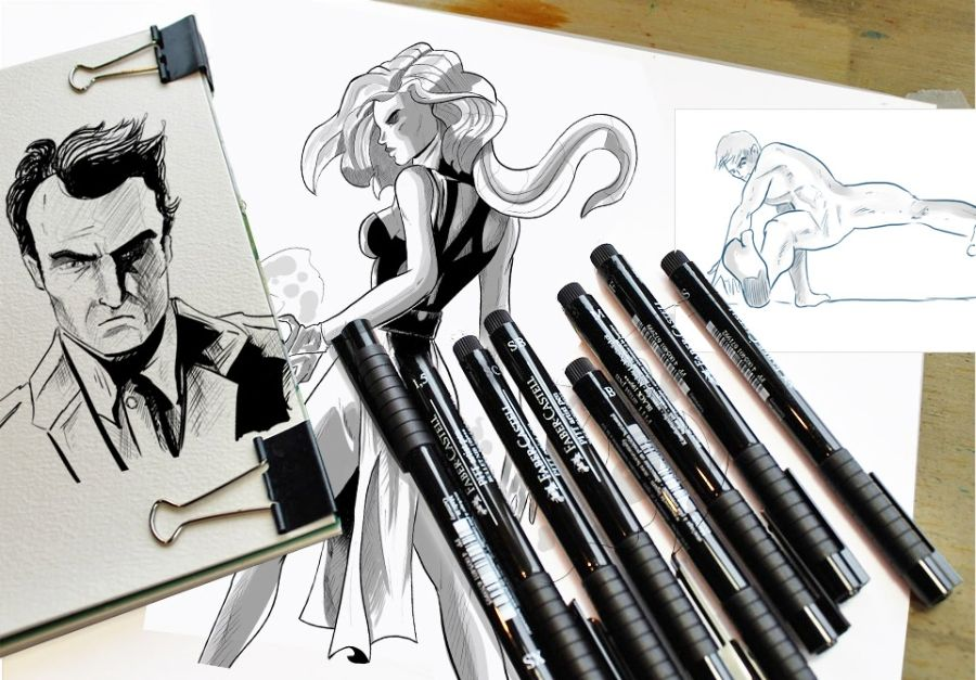 How to ink illustrations with digital tools