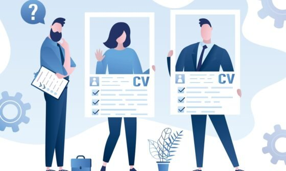 Job seekers with cv