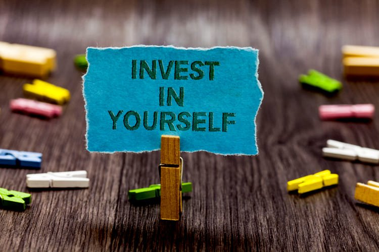 Text sign showing Invest In Yourself