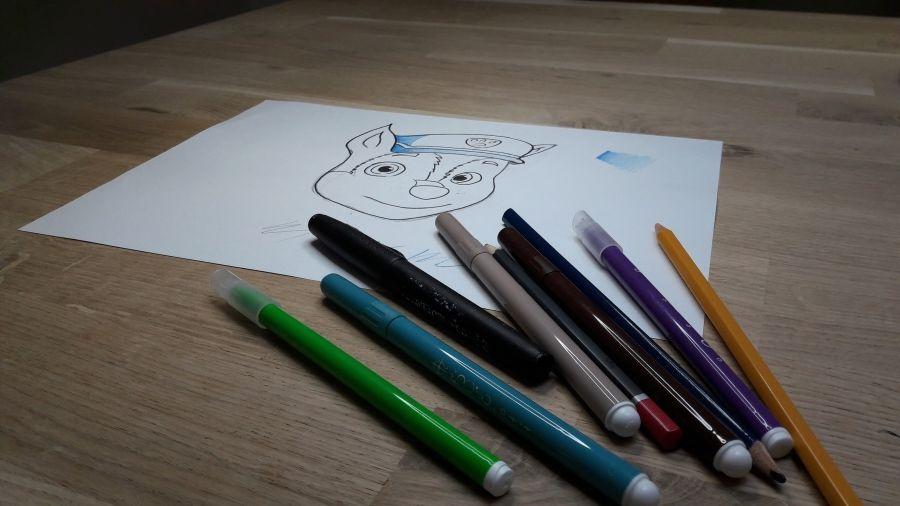 Drawing children hand