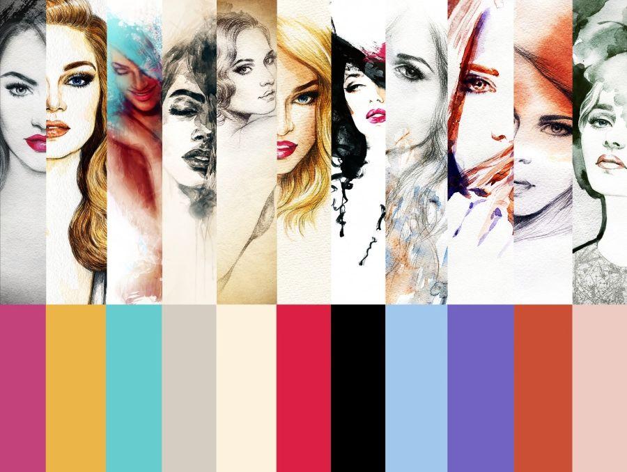 Fashion face illustration tutorial